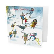 Pack of 10 Quentin Blake Marie Curie Charity Christmas Cards - Skating